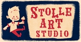 Photo of logo for Stolle Art Studios, home of Tricycle Terror toys